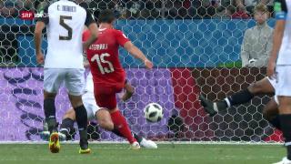 Video «Die schönsten Bilder des Spiels Schweiz-Costa Rica» abspielen