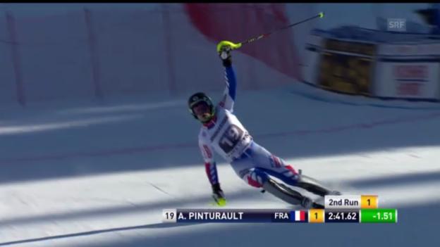 Video «Ski alpin: Der Superkombi-Slalomlauf von Alexis Pinturault («sportlive»)» abspielen