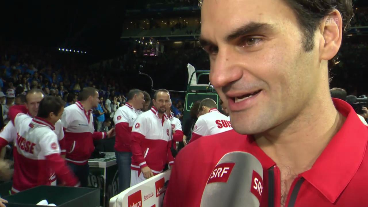 Davis Cup: Siegerinterview Federer