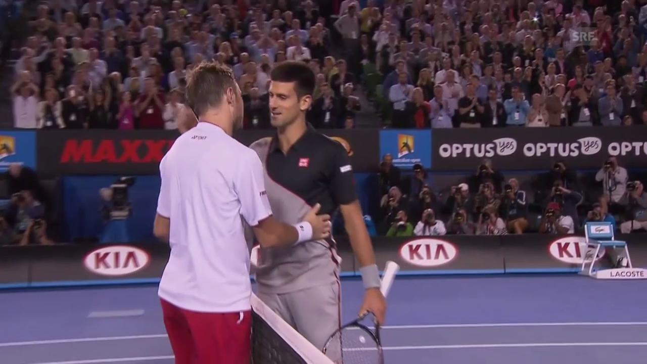 Tennis: Die letzten beiden Aufeinandertreffen von Wawrinka und Djokovic in Melbourne