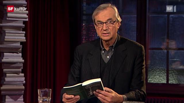 Buchempfehlung von Peter Hamm in der Sendung Literaturclub