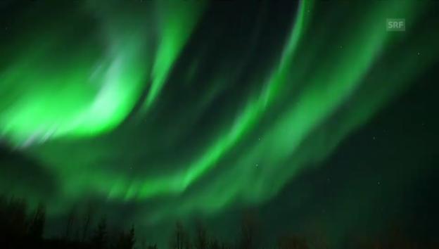 Video «Einzigartiges Nordlicht über Tromsö» abspielen