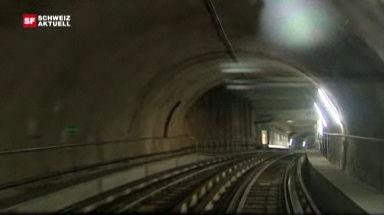 Video «U-Bahn-Premiere am Genfersee» abspielen