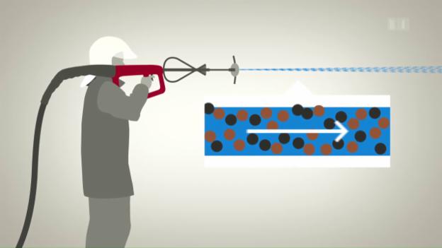 Video «Ein Wasserstrahl, der Wände durchbohrt» abspielen