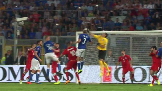 Video «Fussball: EM-Quali, Italien - Aserbaidschan» abspielen