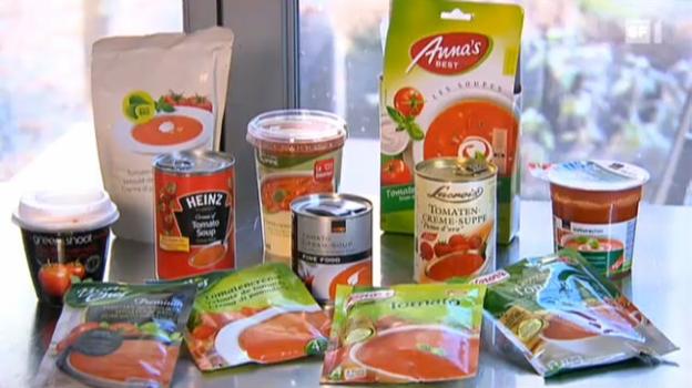 Video «15.02.11: Tomatensuppe: Büchsen gegen Beutel» abspielen