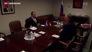 Video «Didier Burkhalter trifft Sergey Lawrow» abspielen