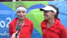 Video «Hingis/Bacsinszky im Siegerinterview» abspielen