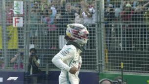 Video «Pole für Hamilton vor den beiden Ferrari» abspielen
