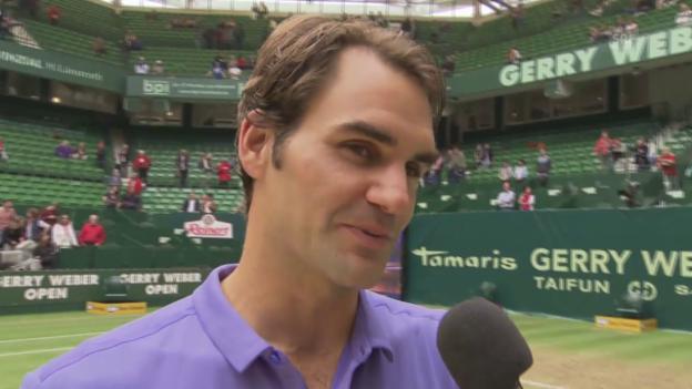 Video «Tennis: ATP Halle, Interview mit Sieger Roger Federer» abspielen