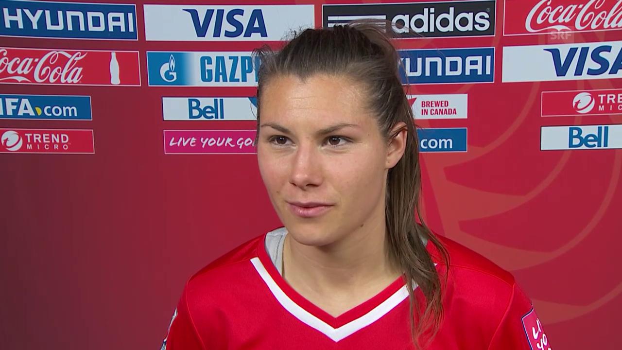 Fussball: Frauen-WM, Schweiz-Ecuador, Interview Ramona Bachmann