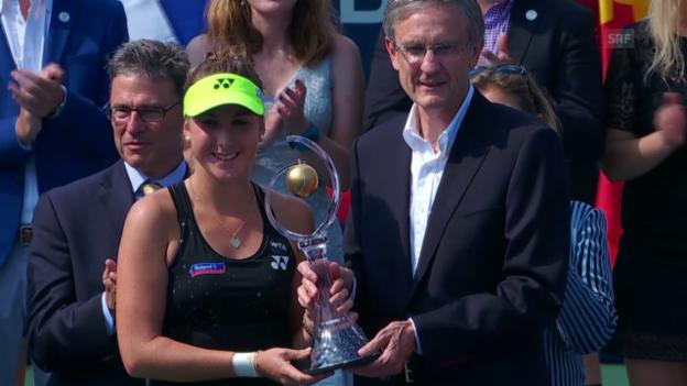 Video «Tennis: WTA Toronto, Siegerehrung Bencic» abspielen