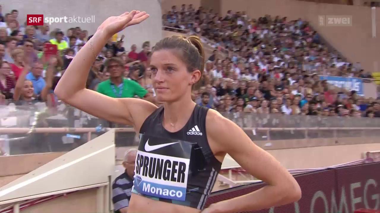 Lea Sprunger überzeugt in Monaco