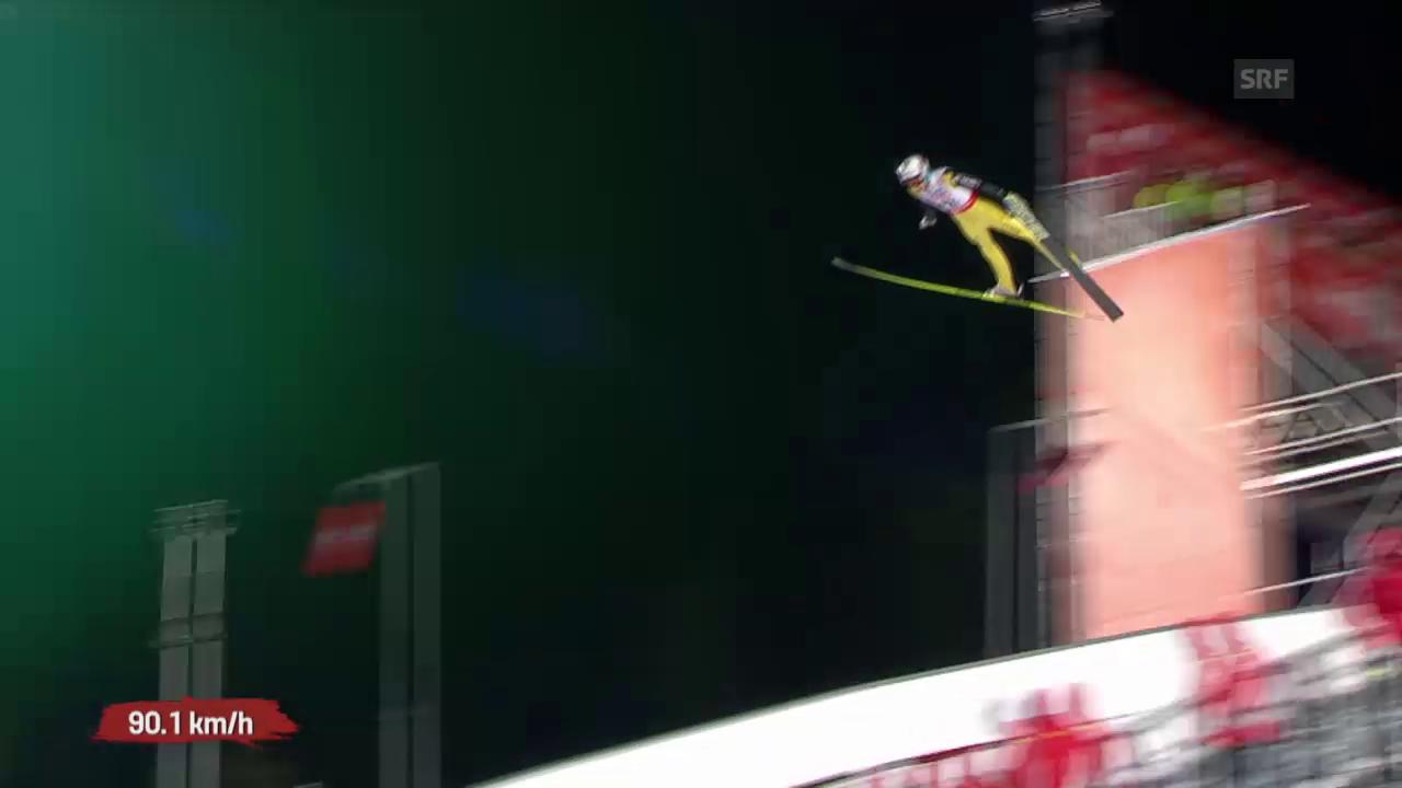 Skispringen: Qualifikation Grossschanze, Sprung Gregor Deschwanden