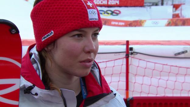 Video «Ski: Interview mit Michelle Gisin (sotschi direkt, 21.2.2014)» abspielen