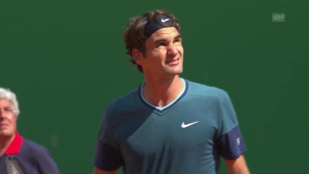 Video «Zusammenfassung Federer - Rosol» abspielen