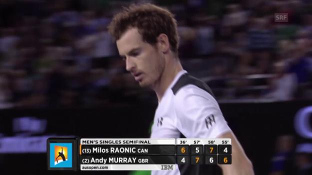 Video «Murray gewinnt 4. Satz» abspielen