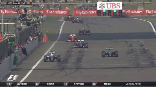 Video «Formel 1: GP China, Schlussphase» abspielen