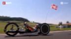 Video «Querschnittgelähmt und Radfahrerin. Fast blind und Sprinter.» abspielen