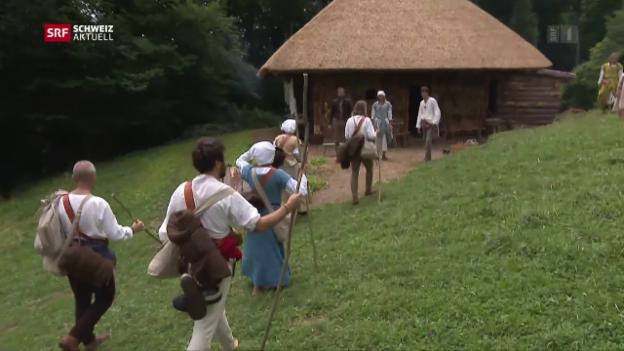 Video «Pilger-Etappe 4: Zu Gast bei Familie Dietschi» abspielen