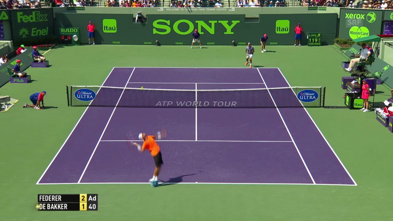 Tennis: Wichtigste Punkte Federer - De Bakker