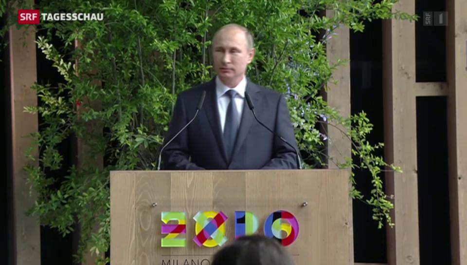 Putin an der Expo in Mailand