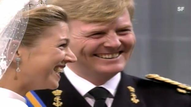 Video «Prinz Willhelm-Alexander und Prinzessin Maxima (Hochzeit)» abspielen