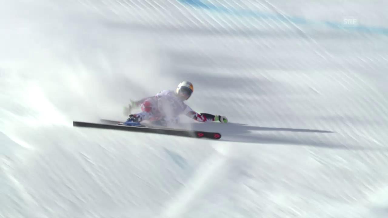 Ski: RS F in Sölden, Sturz von Cornelia Hütter (Ö)