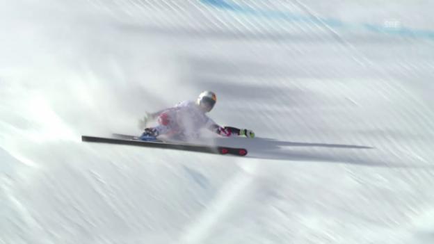 Video «Ski: RS F in Sölden, Sturz von Cornelia Hütter (Ö)» abspielen