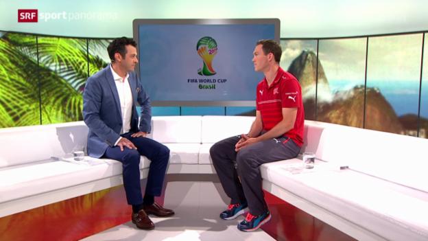 Video «Fussball: Studiogast Stephan Lichtsteiner» abspielen