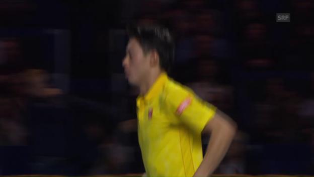 Video «Nishikori verwertet seinen Matchball» abspielen