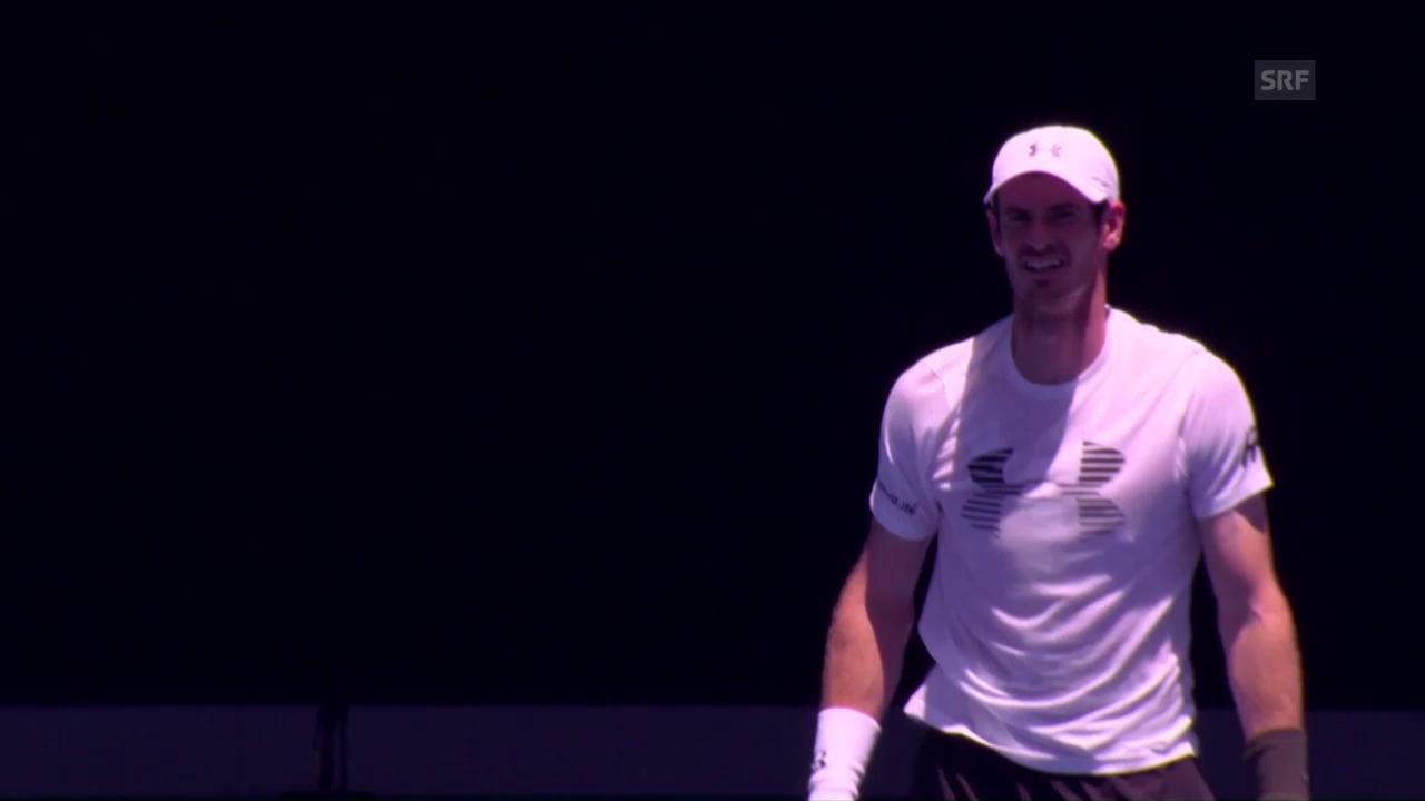 Murray, Djokovic und Nadal beim Training (SNTV)