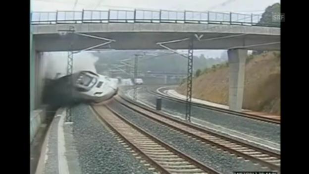 Video «Spanien: Zug-Crash mit 190 Km/h» abspielen