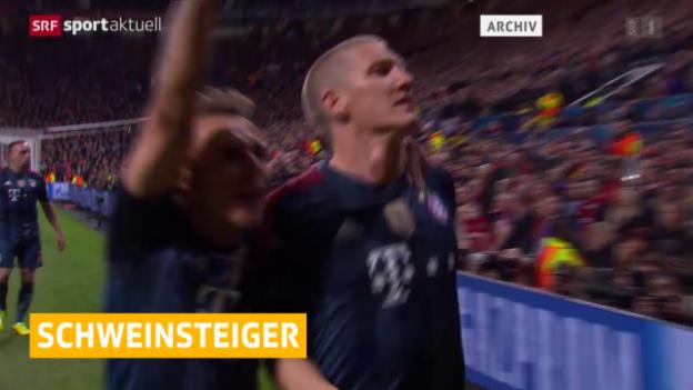 Video «Fussball: Schweinsteiger zu Manchester United» abspielen