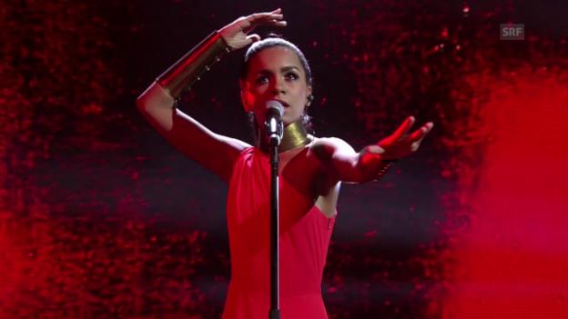 Video «Lettland: Aminata Savadogo mit «Love Injected»» abspielen