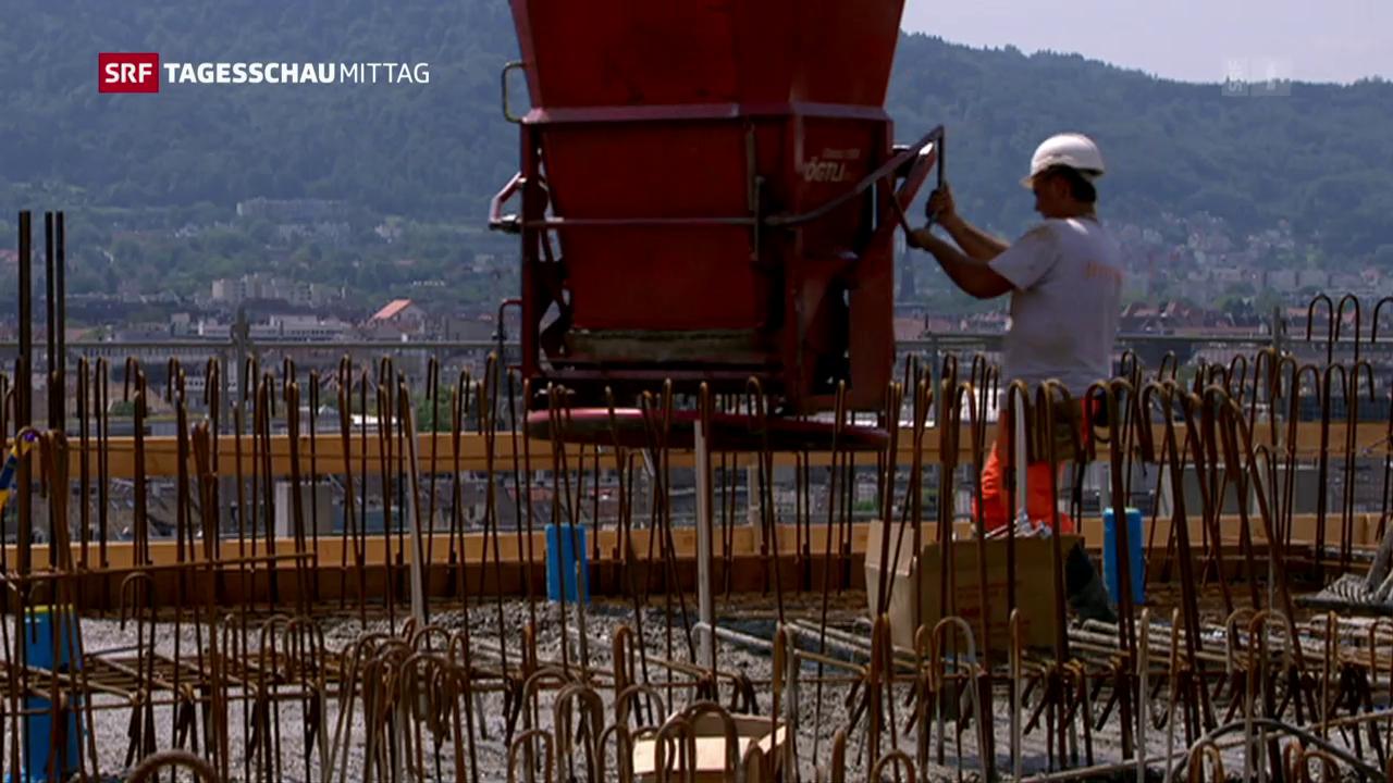 Unia fordert höhere Löhne für Bauarbeiter