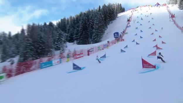 Video «Alpin Snowboard: WM Kreischberg, Debakel im Parallel-Slalom» abspielen