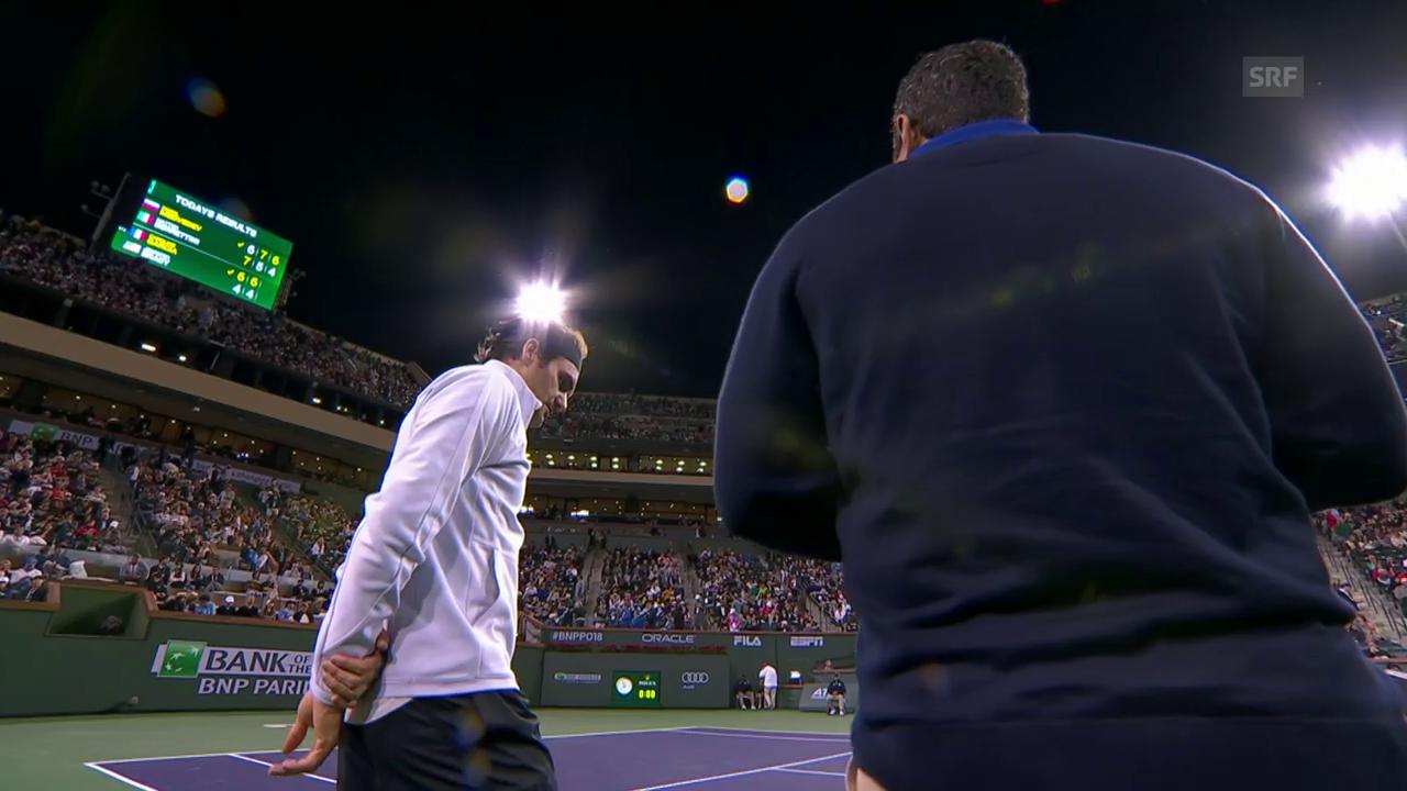 Federer: «Spielen sie auf den anderen Plätzen?»