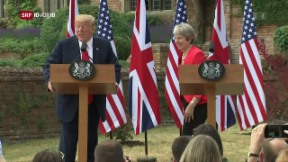 Video «Trump eckt in Grossbritannien an» abspielen