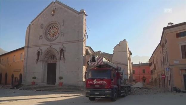 Video «Norcia nach dem Erdbeben» abspielen