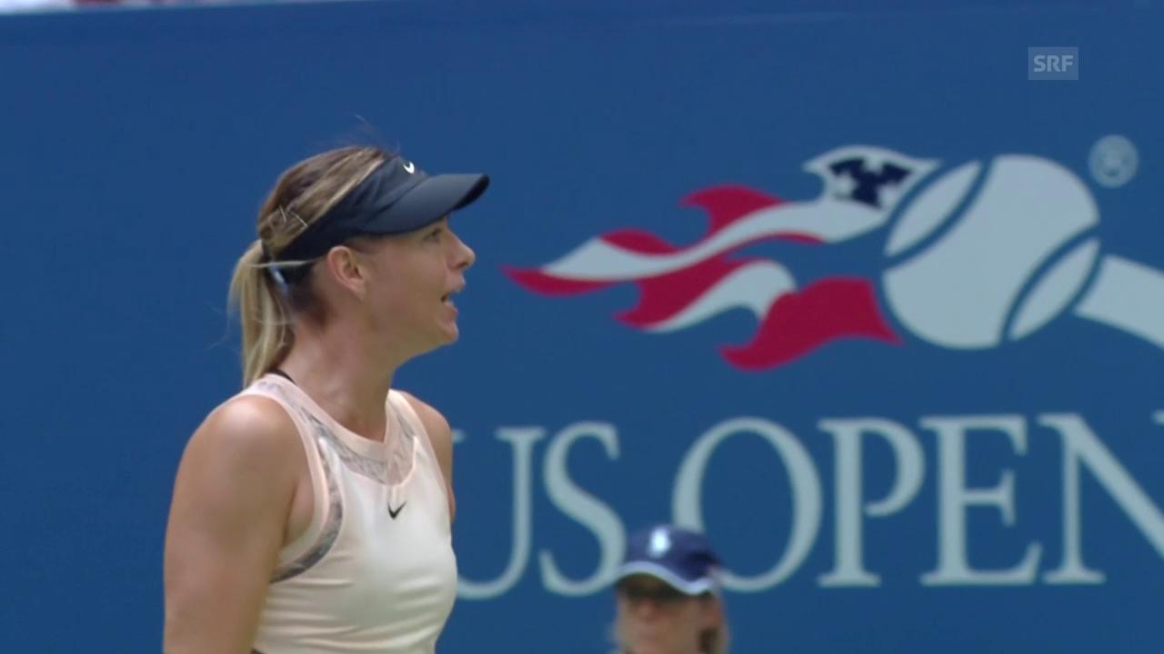 US Open: Scharapowa ringt auch Babos nieder