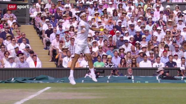 Video «Tennis: Wimbledon, Halbfinal Federer - Murray» abspielen