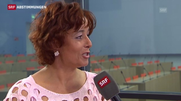 Video «Reaktion von Judith Übersax, Vizepräsidentin SVP» abspielen