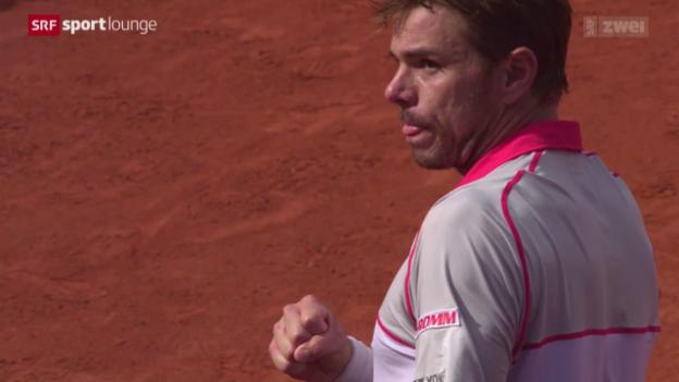 Video «These 4: Wawrinka/Bacsinszky schlagen Federer/Hingis» abspielen
