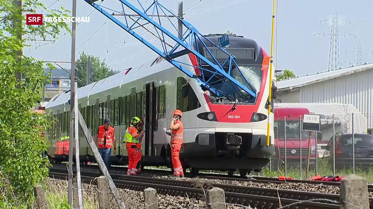 Unfall mit Regionalzug im Aargau