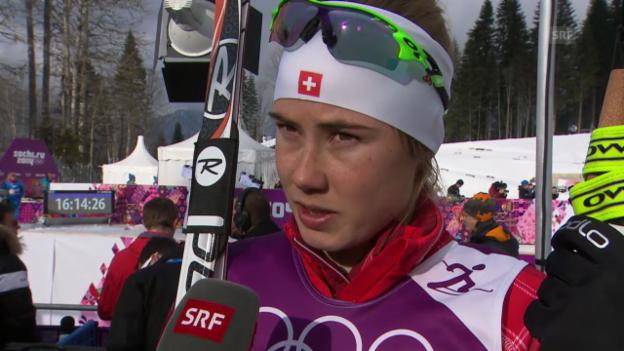 Video «Langlauf: Sprint Frauen, Interview Van der Graaff (Sotschi direkt, 11.02.2014)» abspielen