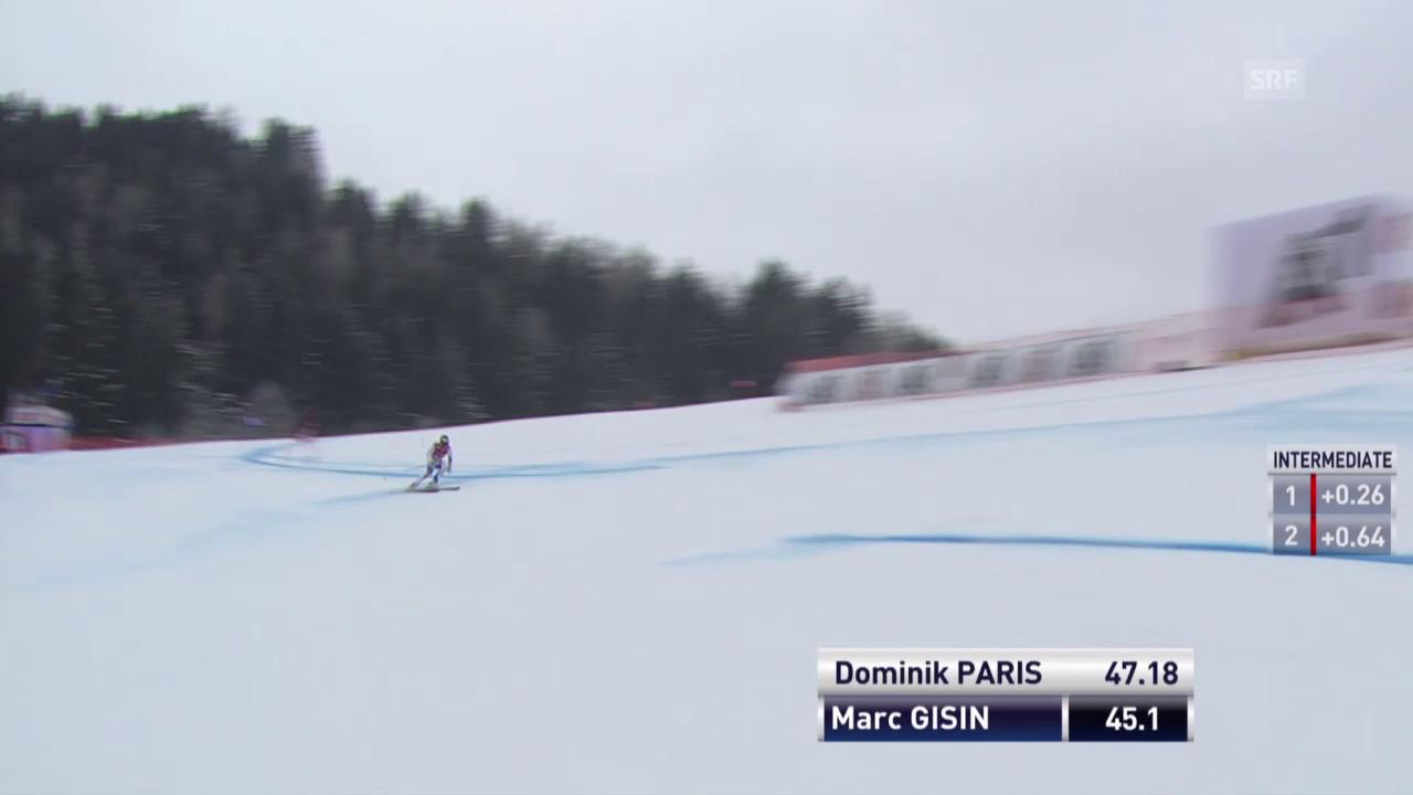 Ski: Der Sturz von Marc Gisin in Kitzbühel