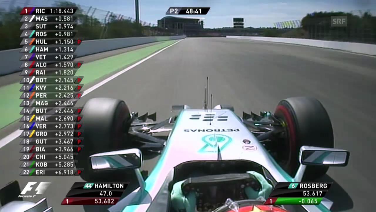 Formel 1: Hamiltons schnellste Runde im freien Training (unkommentiert)