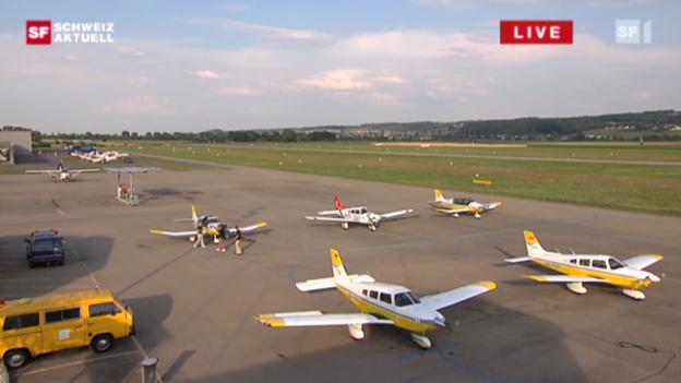 Video «Flugplatz Grenchen: Pilotenausbildung» abspielen