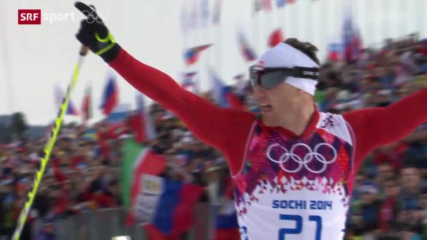 Video «Langlauf: Skiathlon der Männer» abspielen